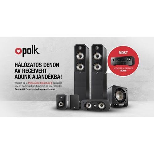 Polk Audio Signature S50E + S10E + S30CE + HTS SUB10 + AJÁNDÉK DENON AVR-S650H