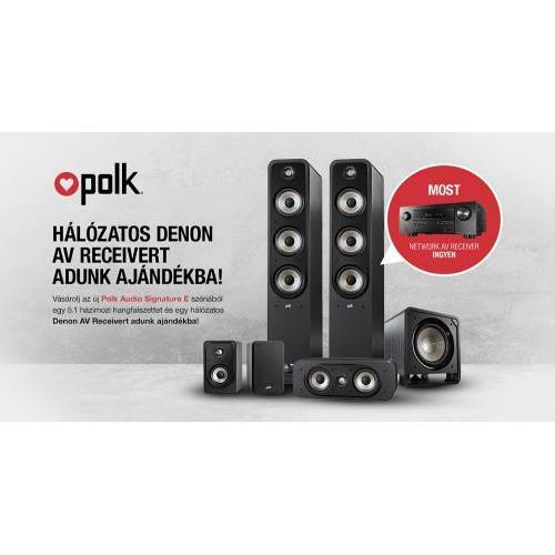Polk Audio Signature S55E + S10E + S30CE + HTS SUB10 + AJÁNDÉK DENON AVR-S750H