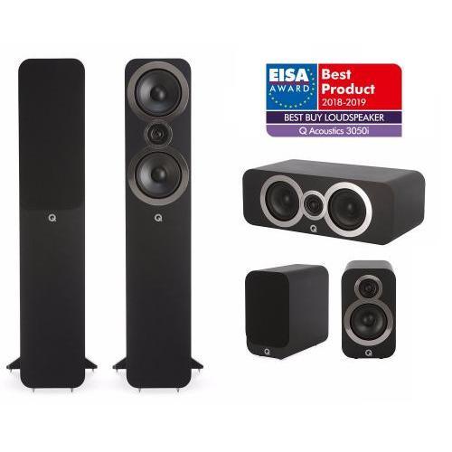 Q Acoustics QA 3050i+3010i+3090Ci 5.0 házimozi hangsugárzó szett fekete