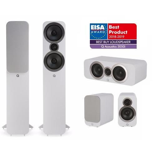 Q Acoustics QA 3050i+3010i+3090Ci 5.0 házimozi hangsugárzó szett fehér
