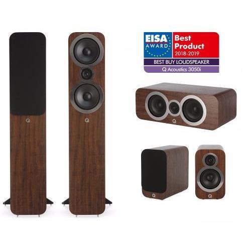 Q Acoustics QA 3050i+3010i+3090Ci 5.0 házimozi hangsugárzó szett dió