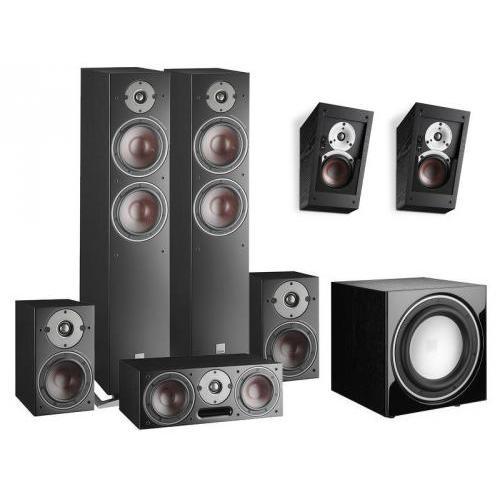 Dali Oberon 7 + 1 + Vokal + Alteco C-1 + SUB E-9 F szett fekete