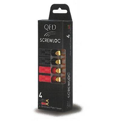QED QE1890 4mm-es hangsugárzó csatlakozó (4 db-os csomagolás)