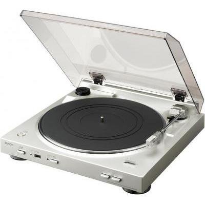 Denon DP-200USB  Automata analóg lemezjátszó MP3 kódolással premium silver